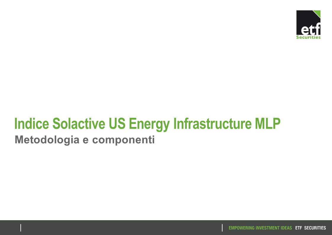 Indice Solactive US Energy Infrastructure MLP