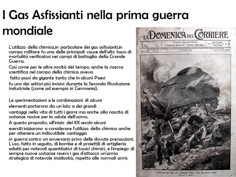 I Gas Asfissianti nella prima guerra mondiale