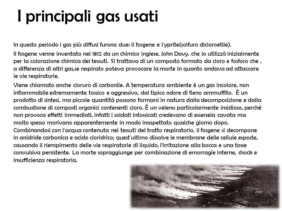 I principali gas usati