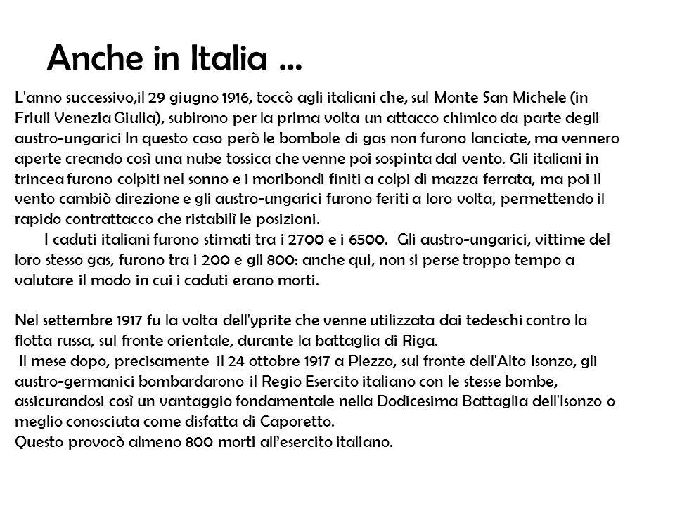 Anche in Italia …