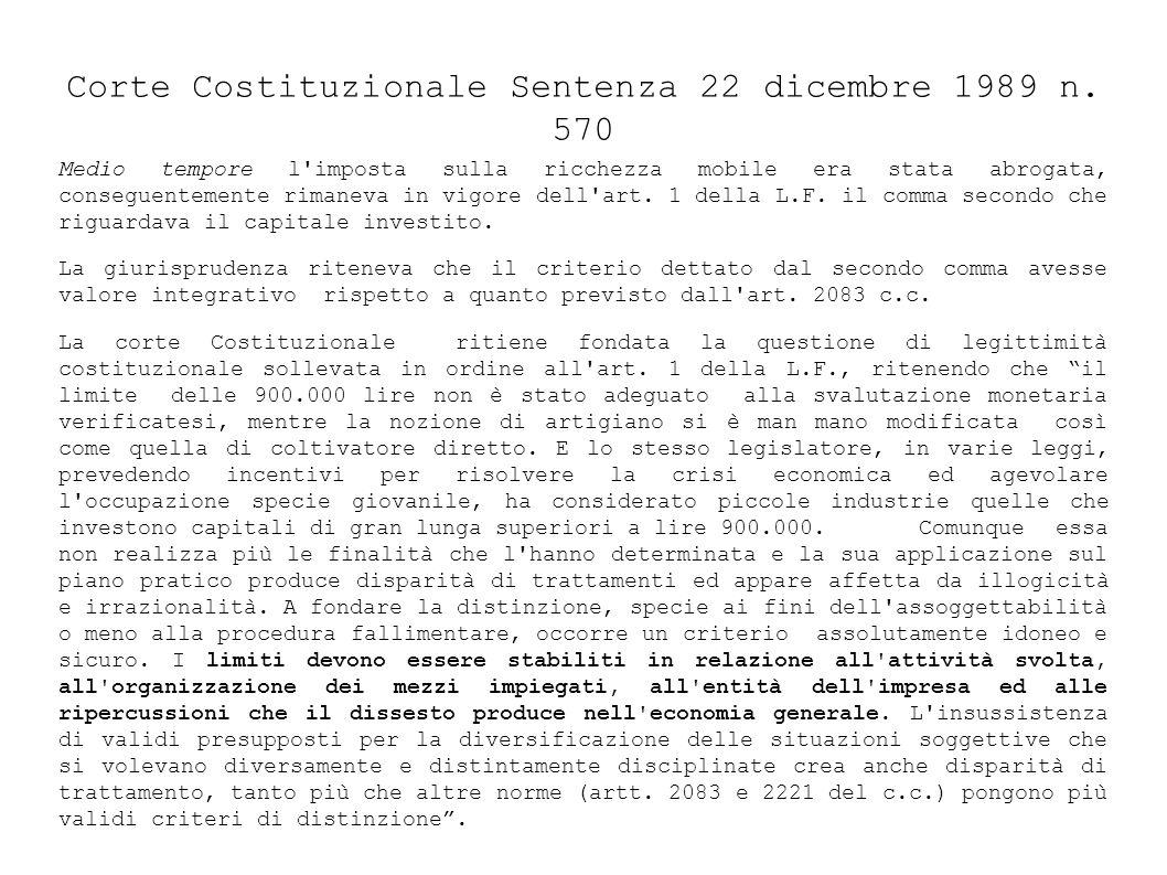 Corte Costituzionale Sentenza 22 dicembre 1989 n. 570