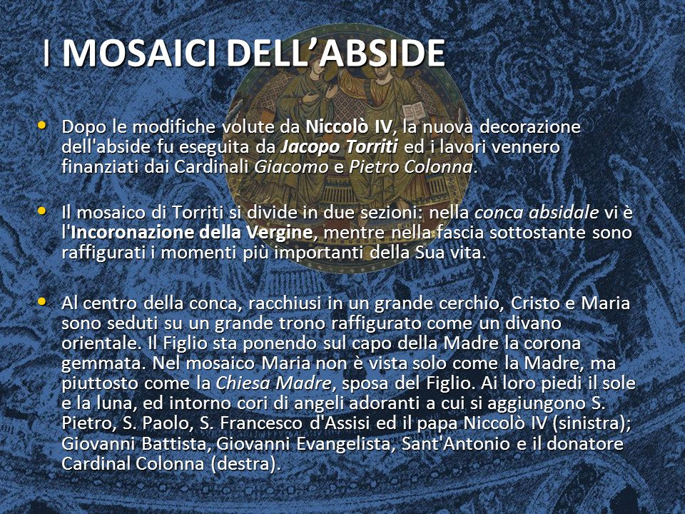 I MOSAICI DELL'ABSIDE