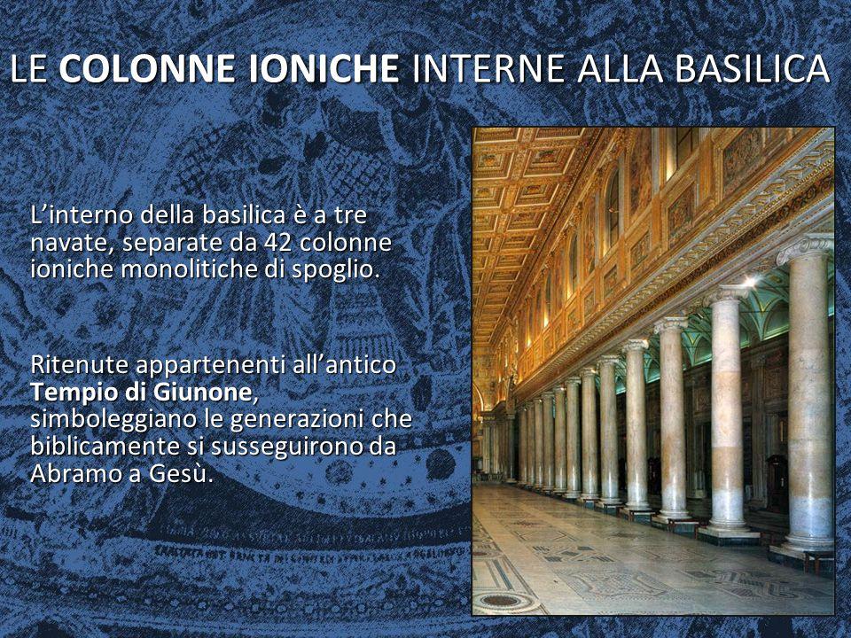 LE COLONNE IONICHE INTERNE ALLA BASILICA