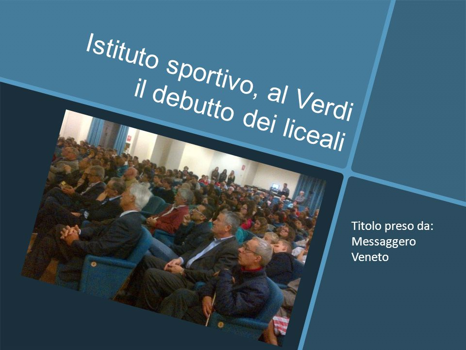 Istituto sportivo, al Verdi il debutto dei liceali