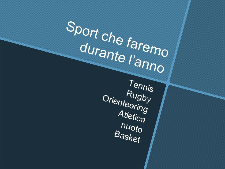 Sport che faremo durante l'anno