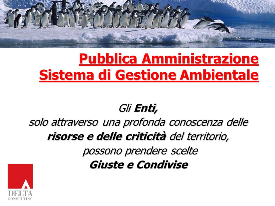 Pubblica Amministrazione Sistema di Gestione Ambientale