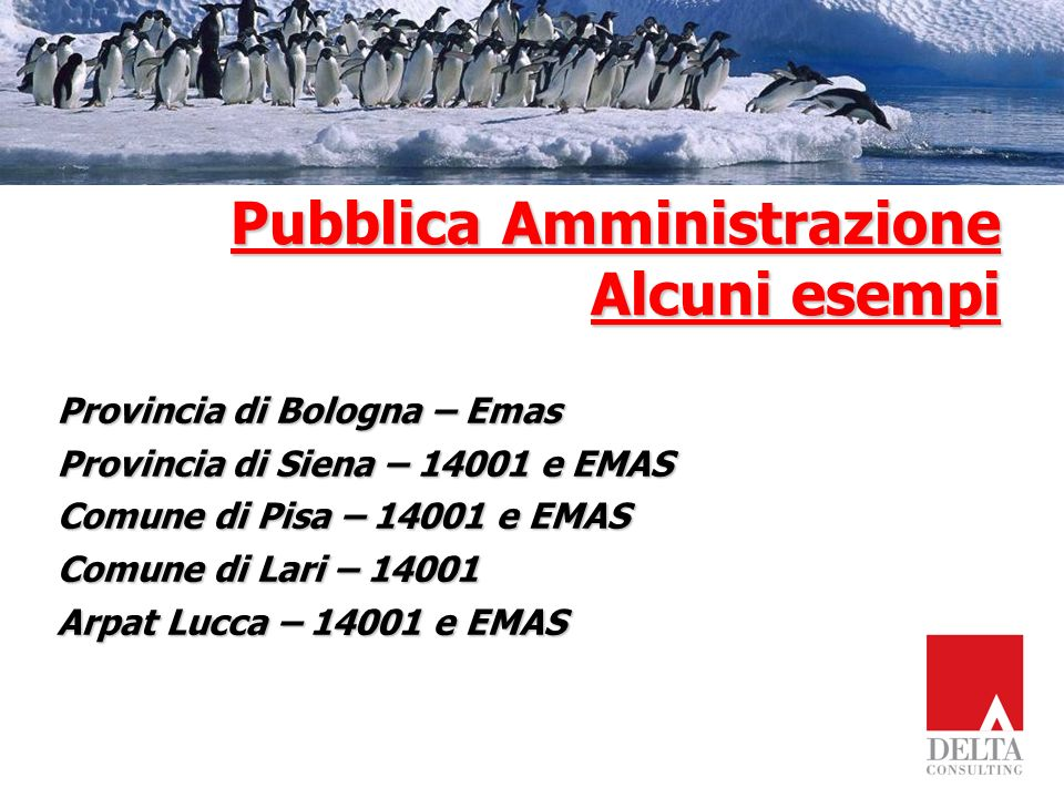 Pubblica Amministrazione Alcuni esempi