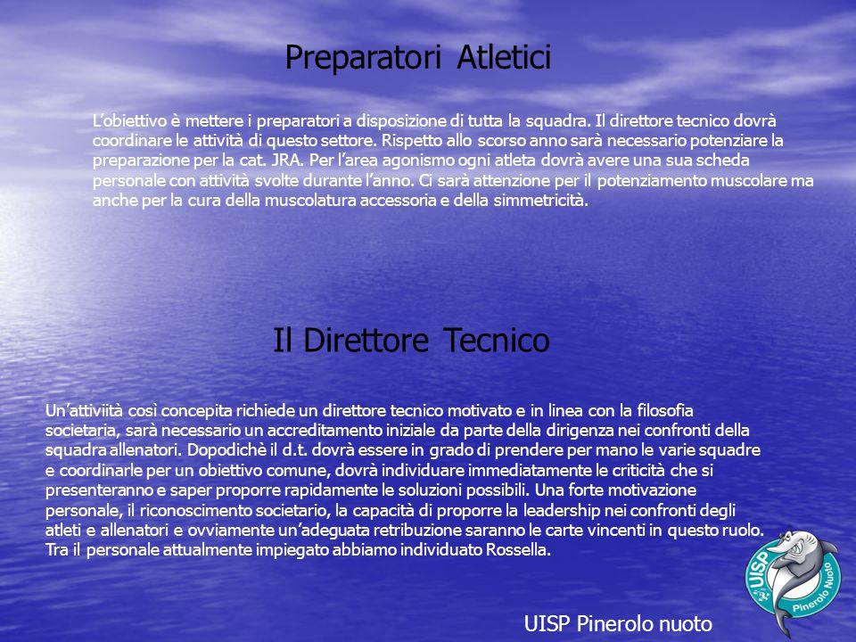 Preparatori Atletici Il Direttore Tecnico UISP Pinerolo nuoto