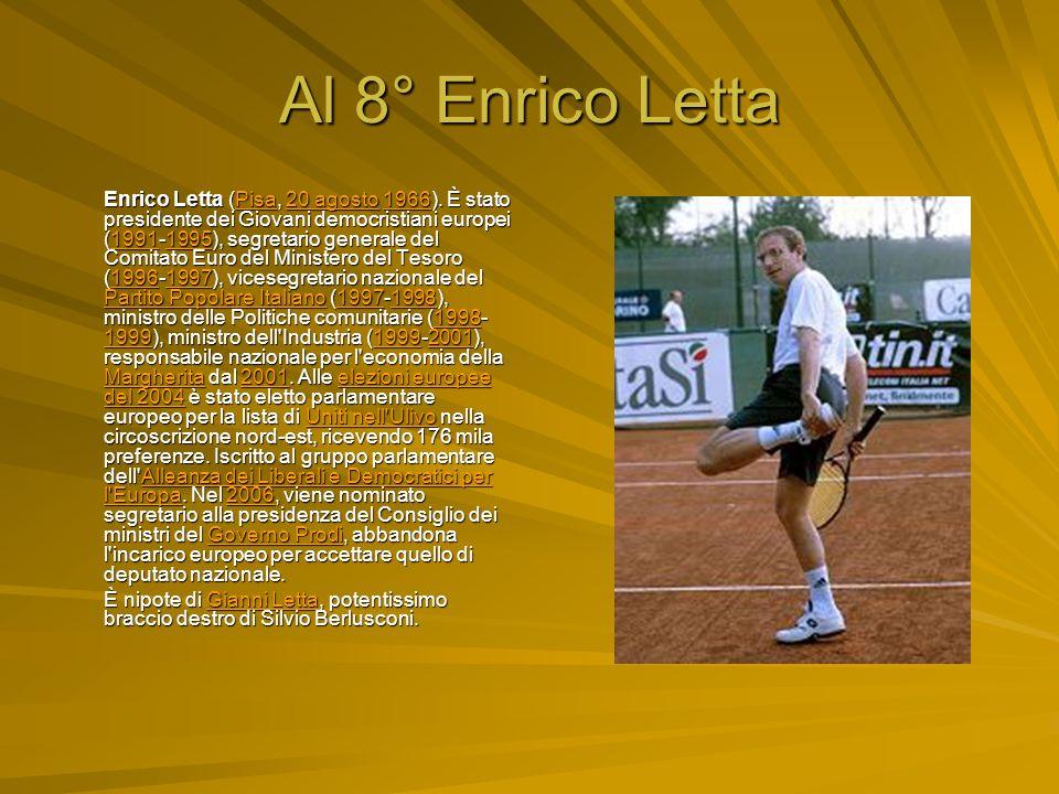 Al 8° Enrico Letta