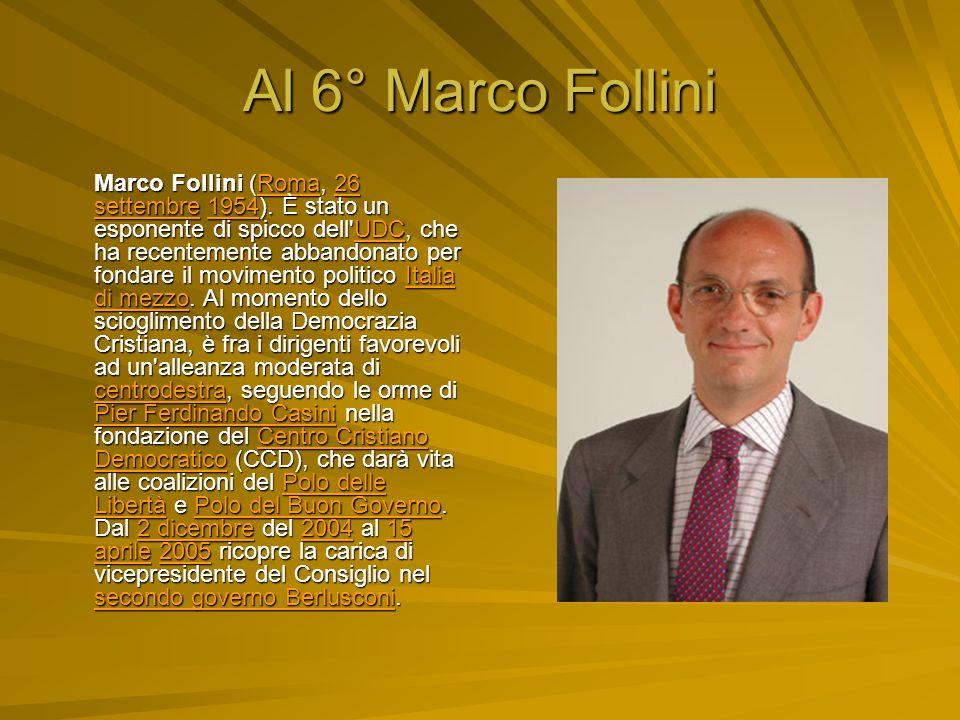 Al 6° Marco Follini