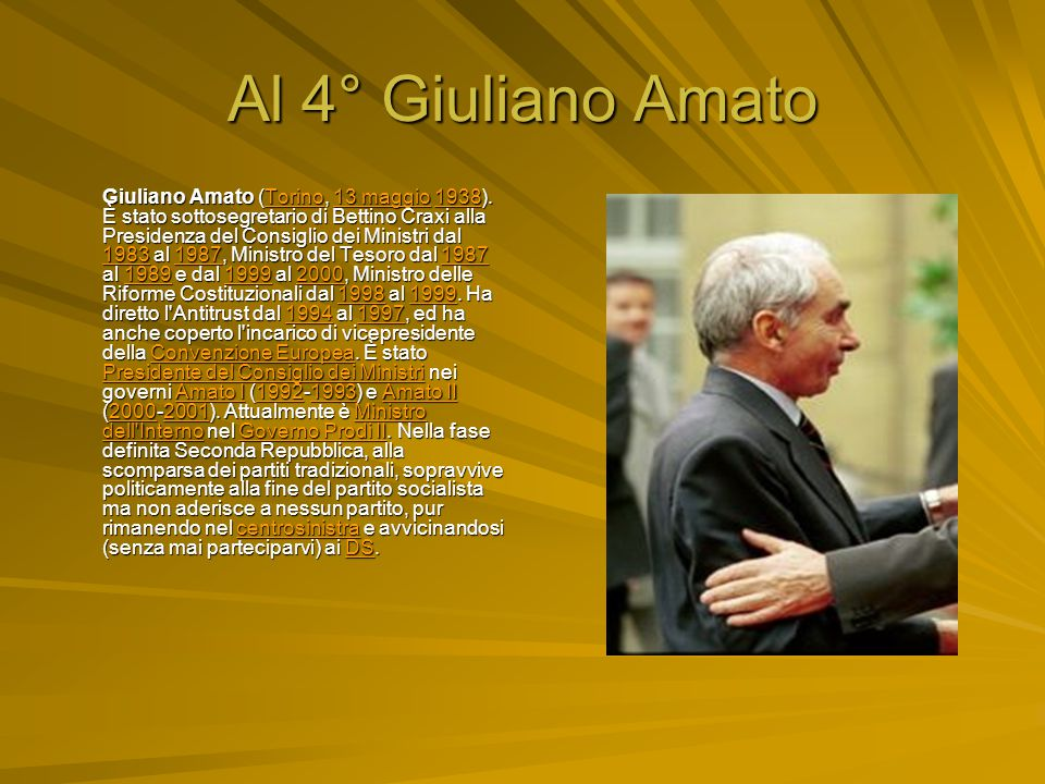Al 4° Giuliano Amato
