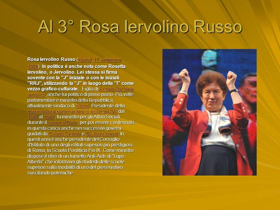 Al 3° Rosa Iervolino Russo