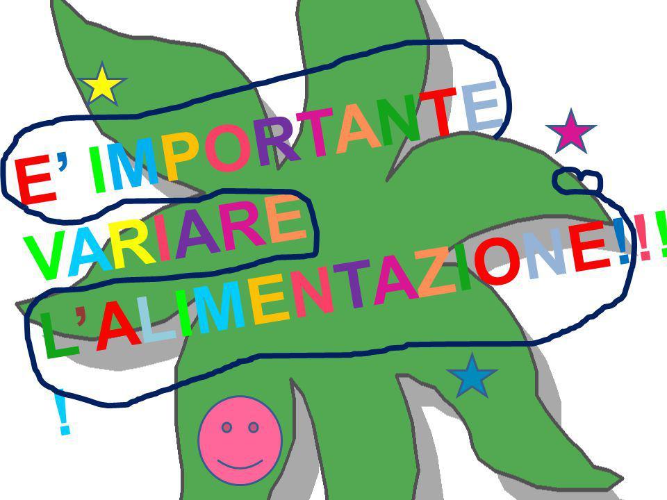 E' IMPORTANTE VARIARE L'ALIMENTAZIONE!!!!