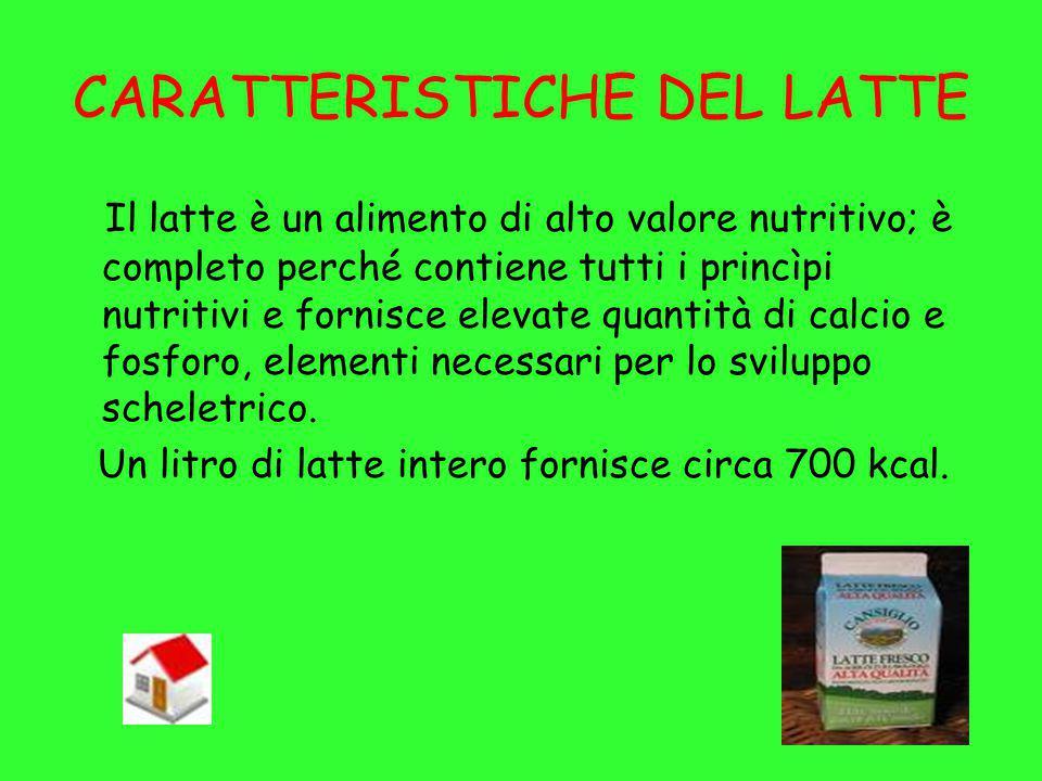 CARATTERISTICHE DEL LATTE