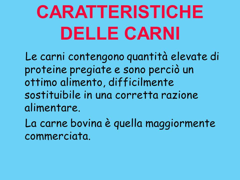 CARATTERISTICHE DELLE CARNI