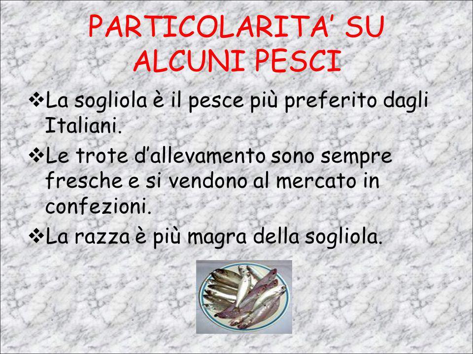 PARTICOLARITA' SU ALCUNI PESCI