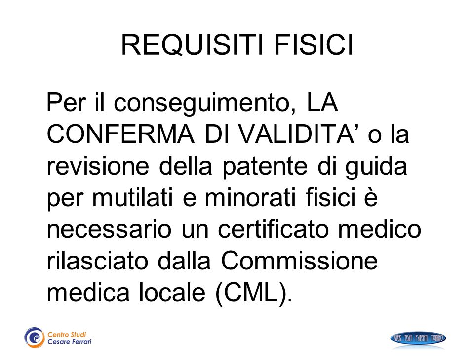 REQUISITI FISICI