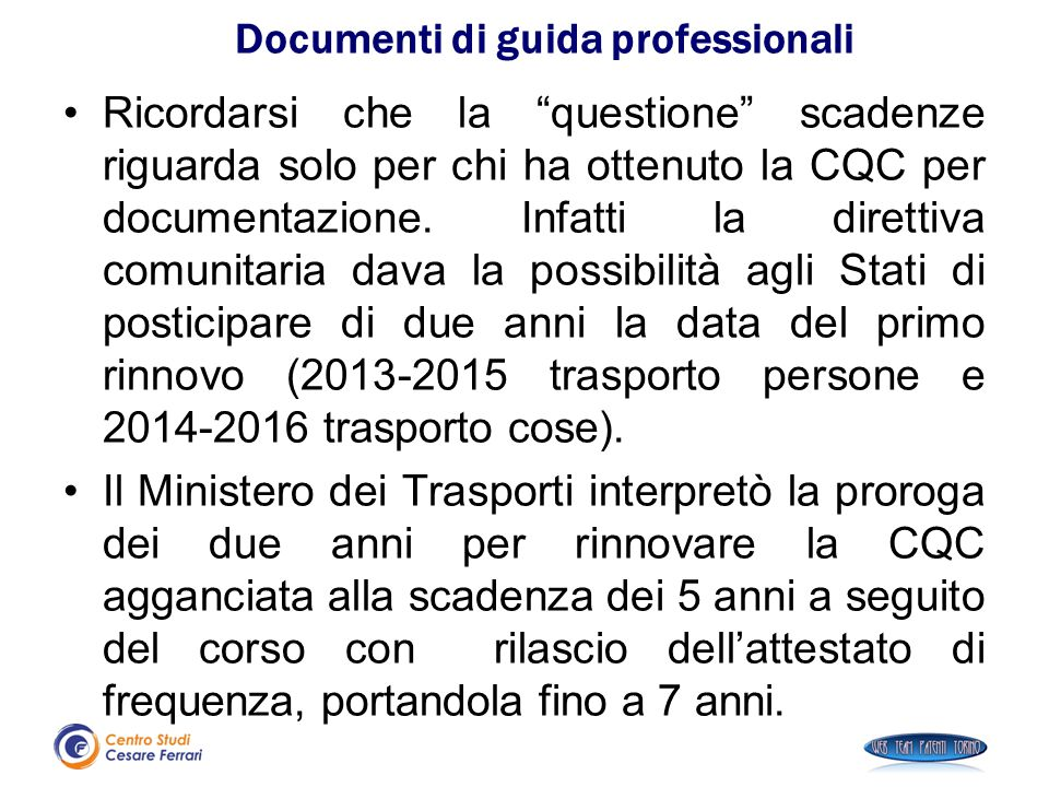 Documenti di guida professionali