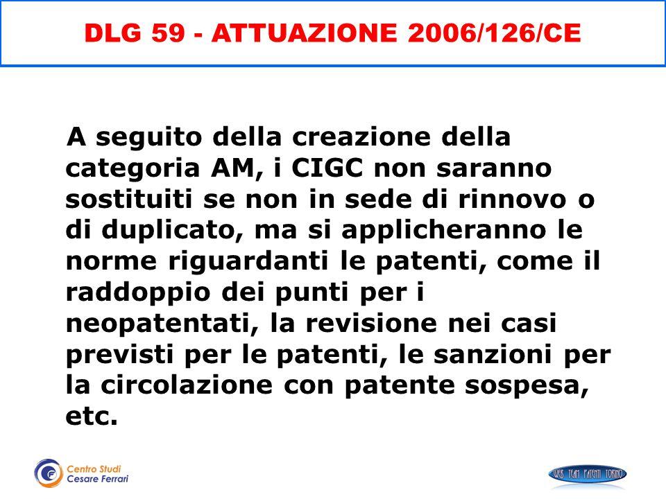 DLG 59 - ATTUAZIONE 2006/126/CE