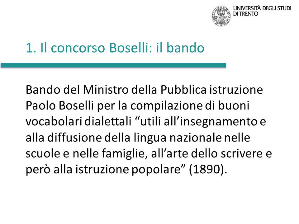 1. Il concorso Boselli: il bando