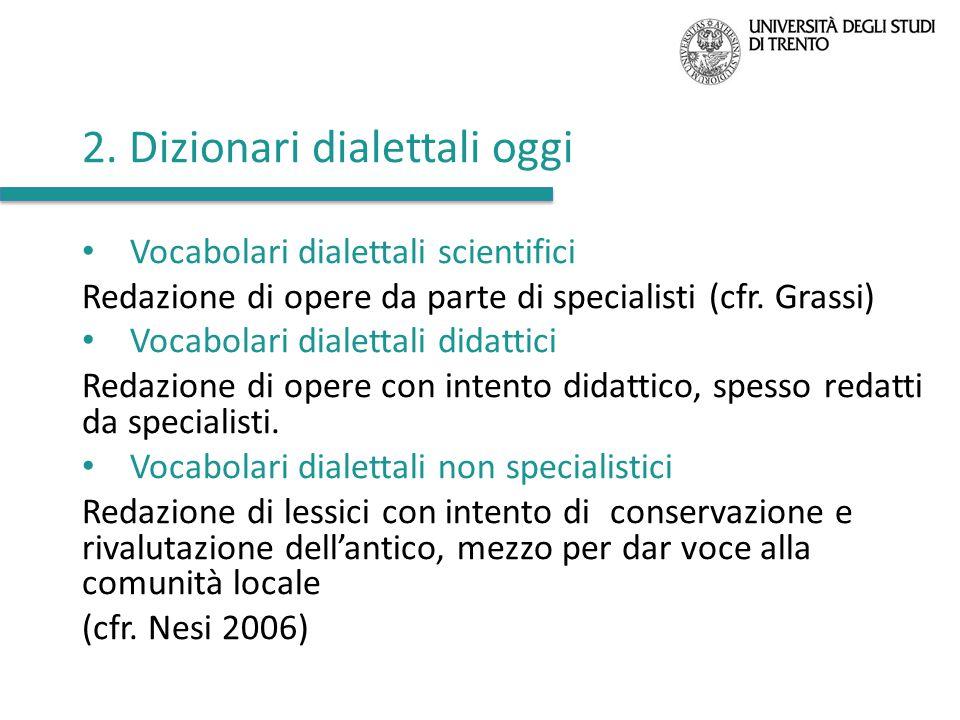 2. Dizionari dialettali oggi