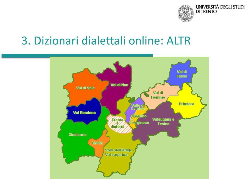 3. Dizionari dialettali online: ALTR