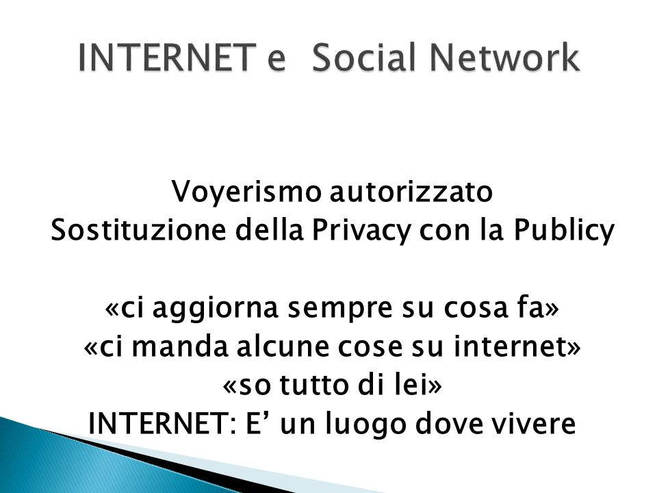 INTERNET e Social Network