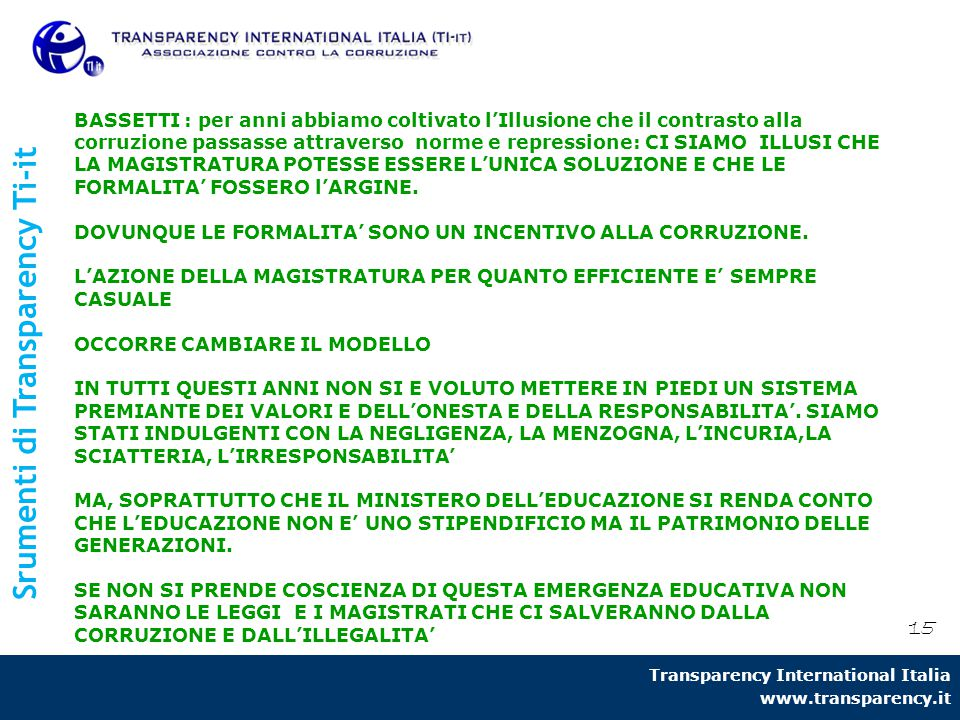 Srumenti di Transparency Ti-it