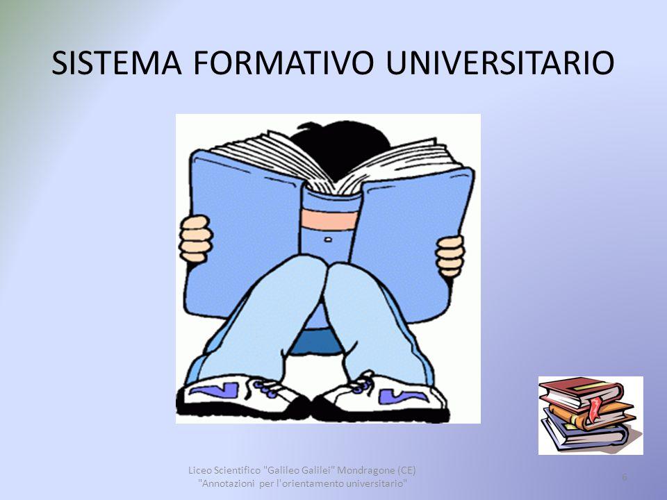 SISTEMA FORMATIVO UNIVERSITARIO