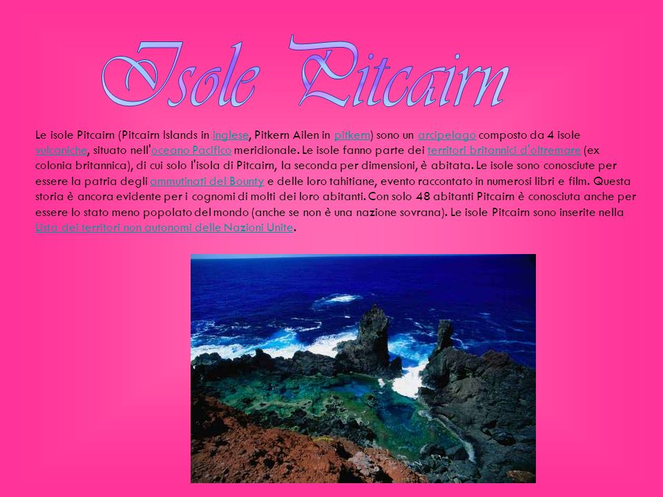 Isole Pitcairn