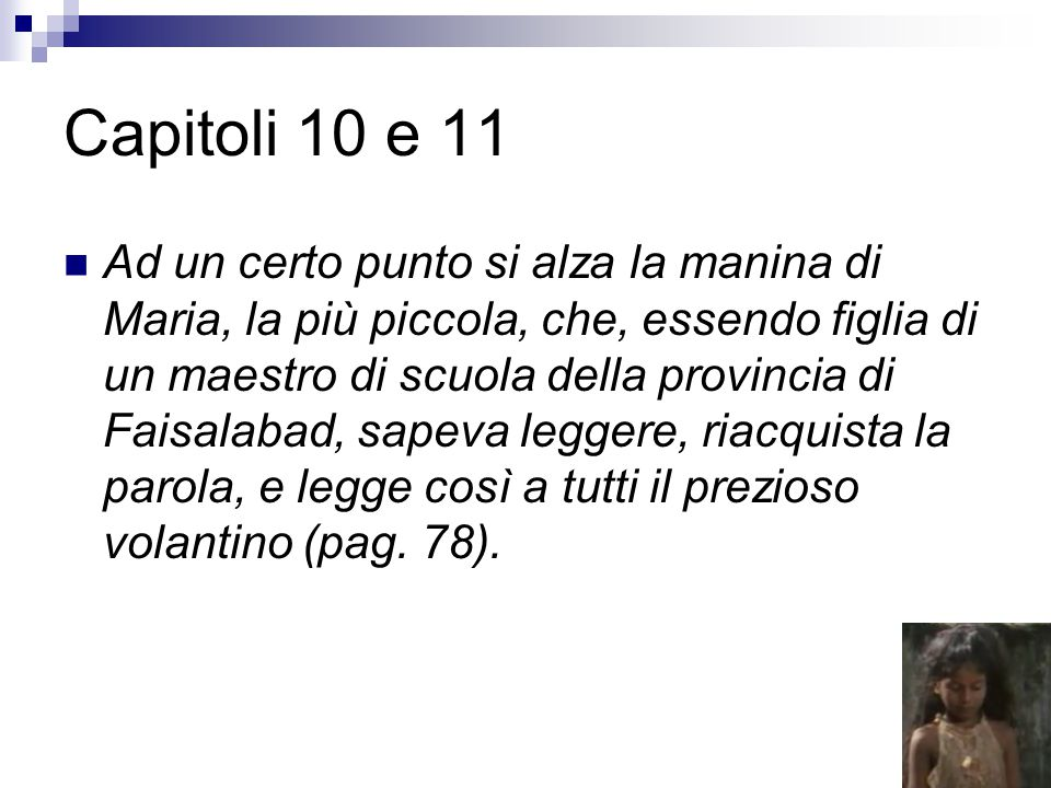 Capitoli 10 e 11