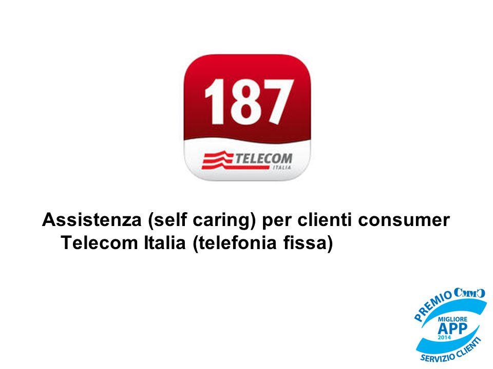 Assistenza (self caring) per clienti consumer Telecom Italia (telefonia fissa)