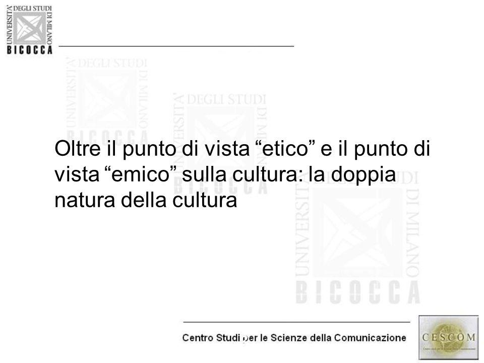 Oltre il punto di vista etico e il punto di vista emico sulla cultura: la doppia natura della cultura