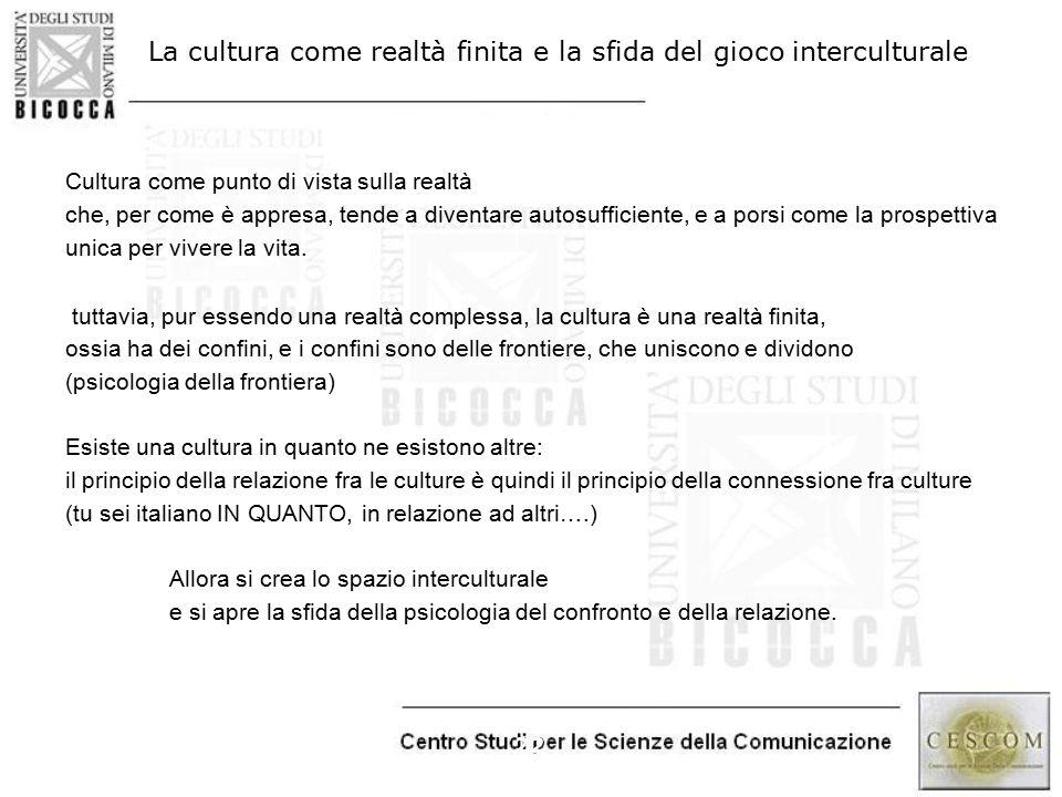 La cultura come realtà finita e la sfida del gioco interculturale