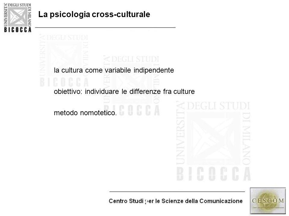 La psicologia cross-culturale