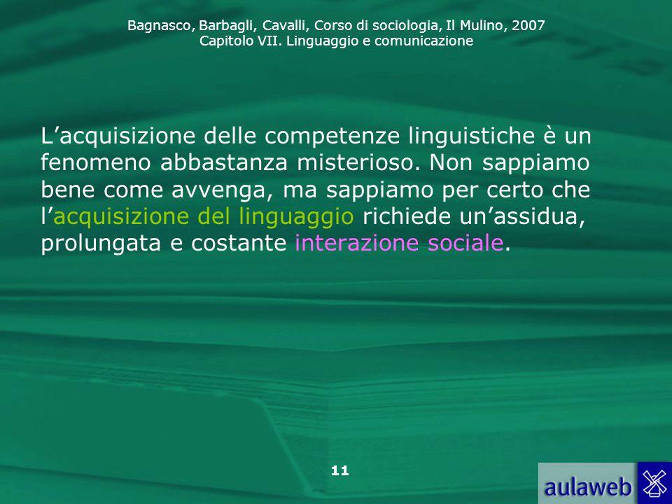 L'acquisizione delle competenze linguistiche è un fenomeno abbastanza misterioso.