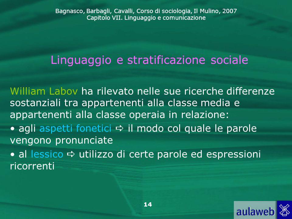 Linguaggio e stratificazione sociale