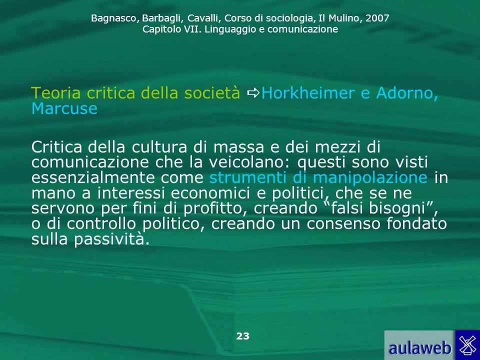 Teoria critica della società Horkheimer e Adorno, Marcuse