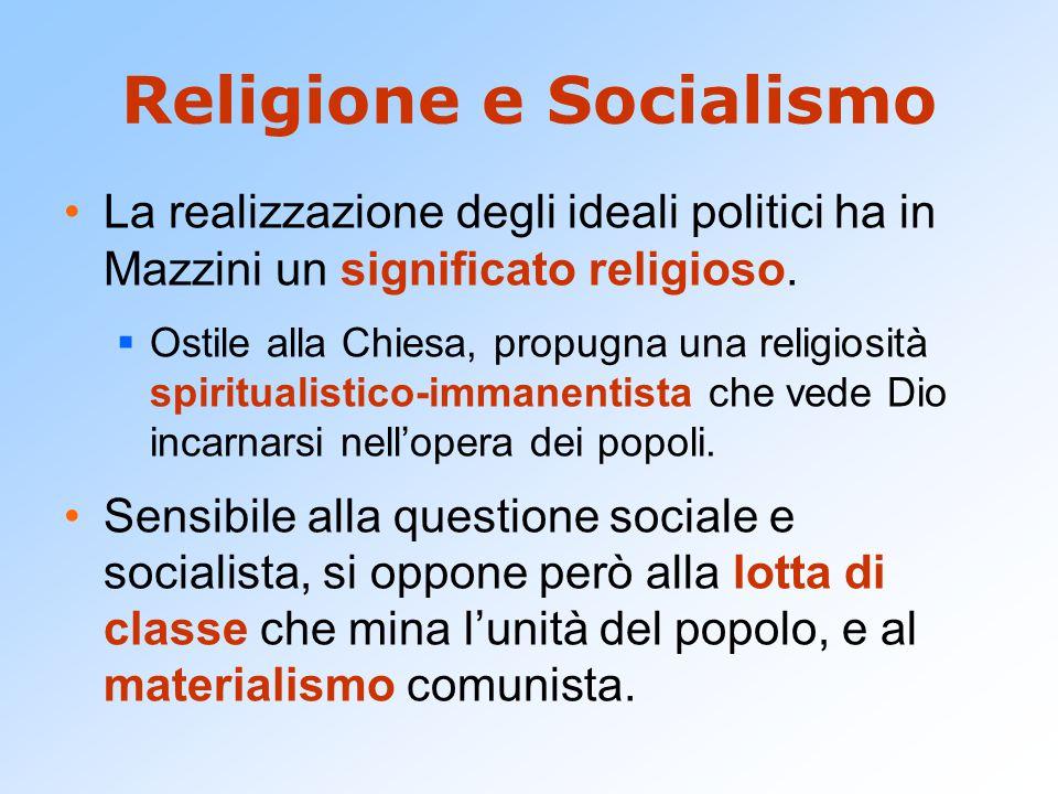 Religione e Socialismo