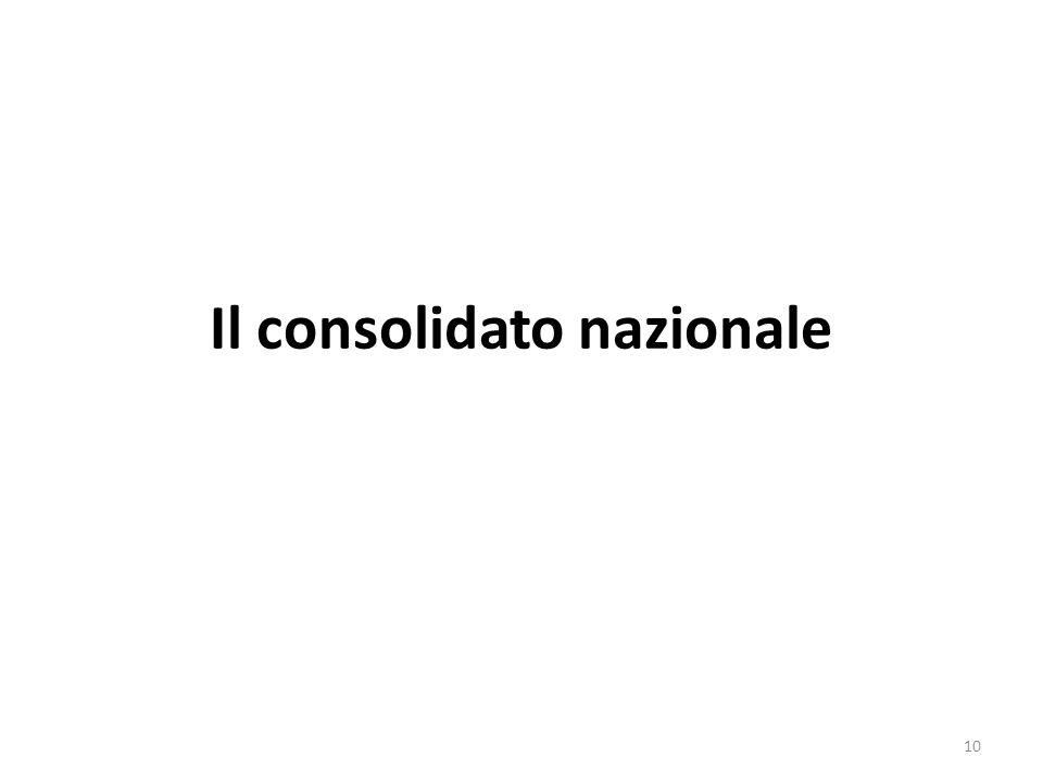 Il consolidato nazionale
