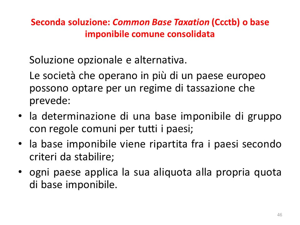 Soluzione opzionale e alternativa.