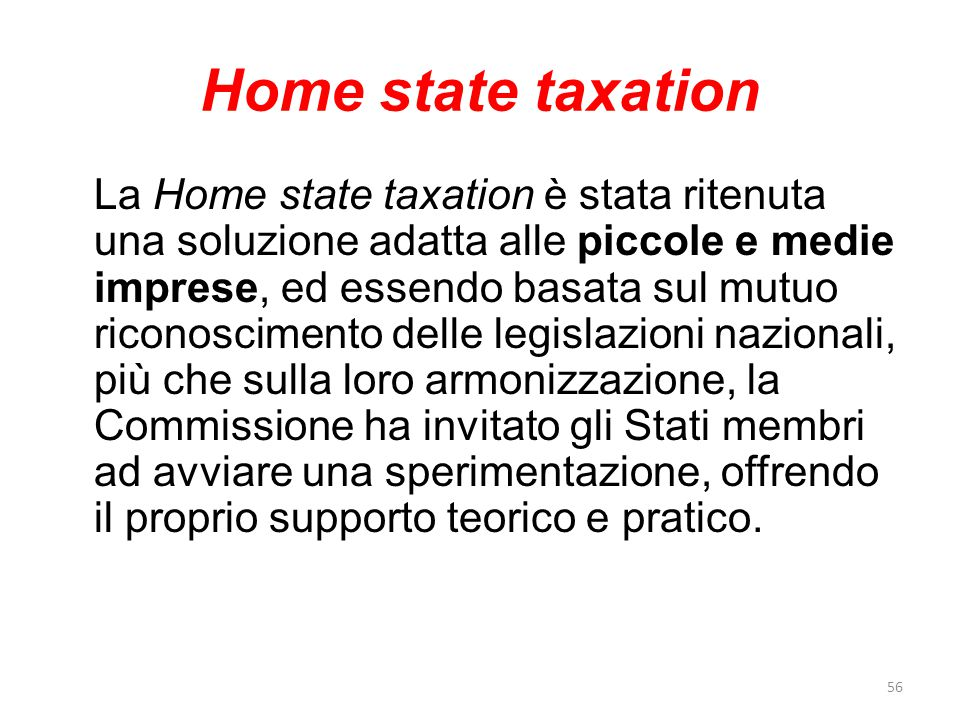 Home state taxation