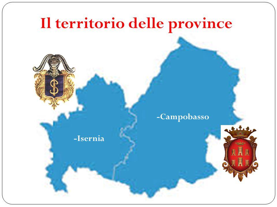Il territorio delle province