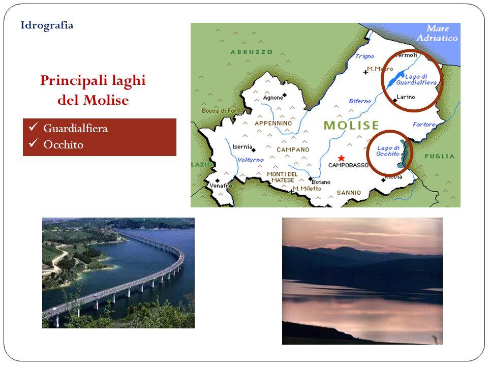 Principali laghi del Molise