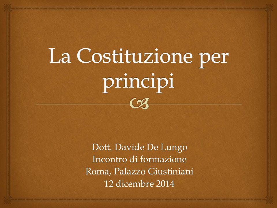 La Costituzione per principi