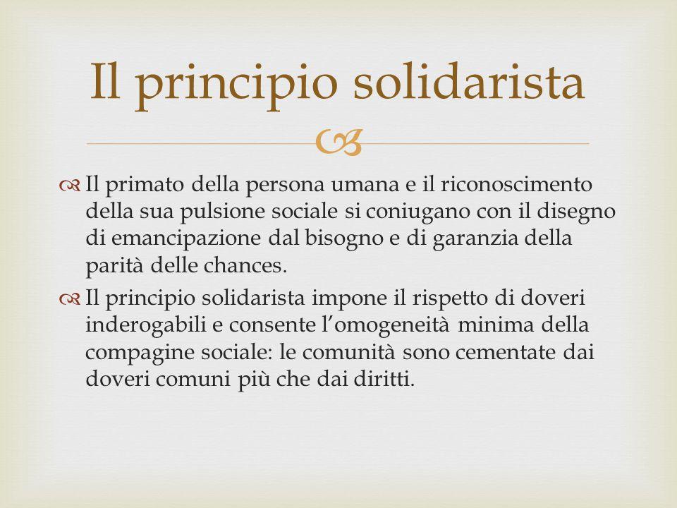 Il principio solidarista