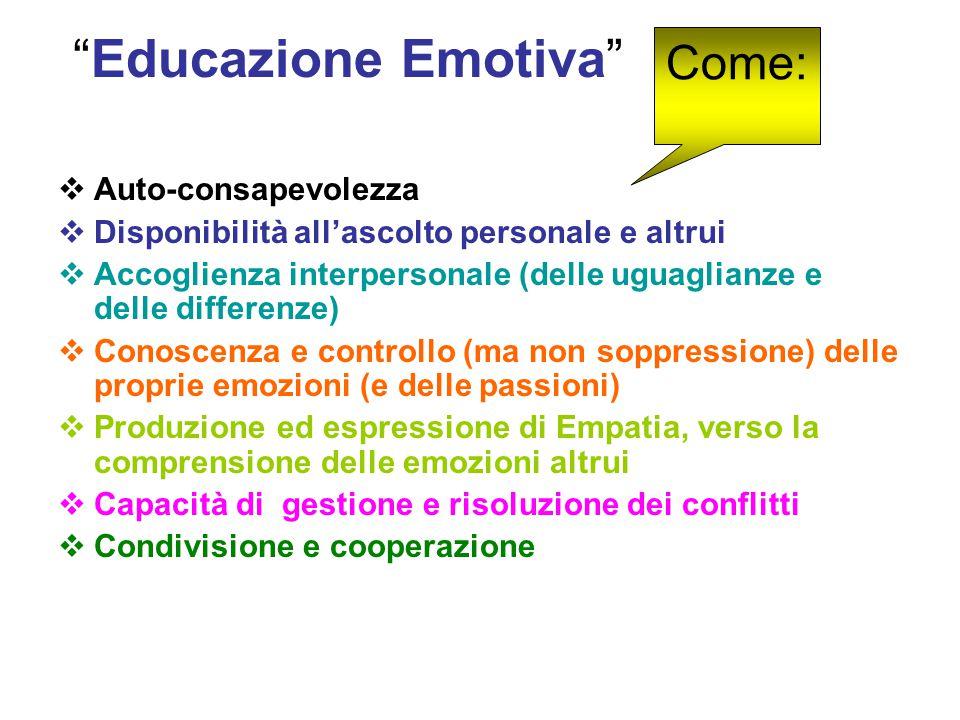 Educazione Emotiva Come: Auto-consapevolezza