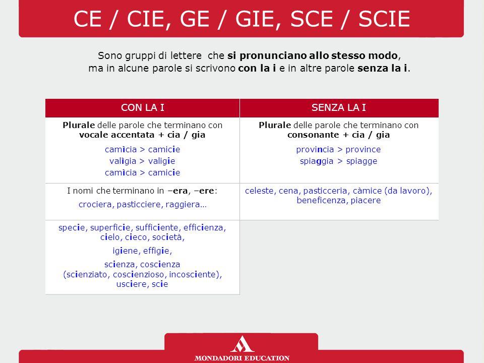 CE / CIE, GE / GIE, SCE / SCIE