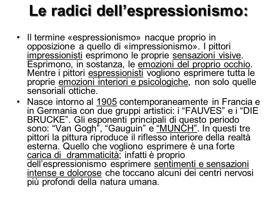 Le radici dell'espressionismo: