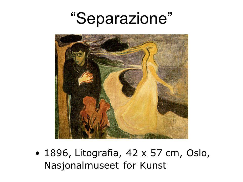 Separazione 1896, Litografia, 42 x 57 cm, Oslo, Nasjonalmuseet for Kunst
